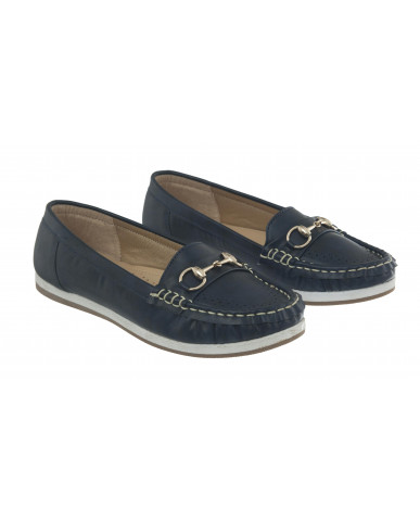 5292 : Balujas Blue Ladies Loafers
