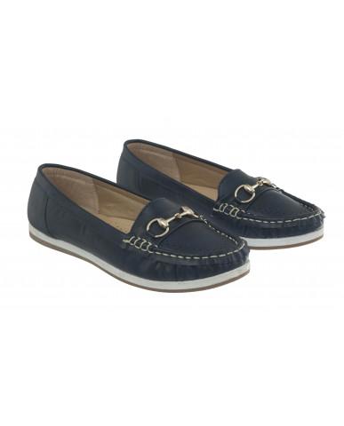 5292 : Balujas Blue Ladies Loafers