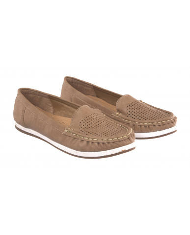 5295 : Balujas Beige Ladies Loafers
