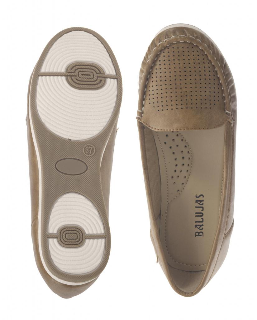 5295 : Balujas Beige Ladies Loafers