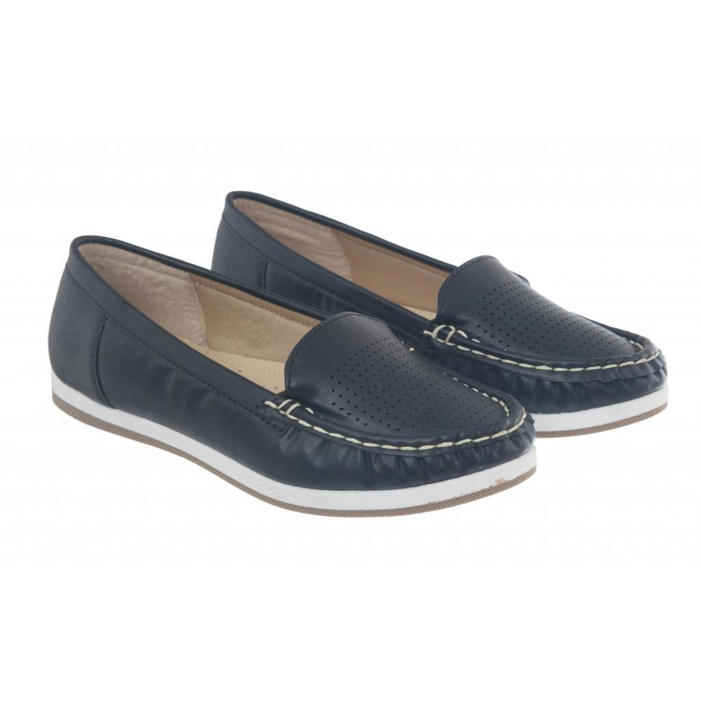 5295 : Balujas Black Ladies Loafers