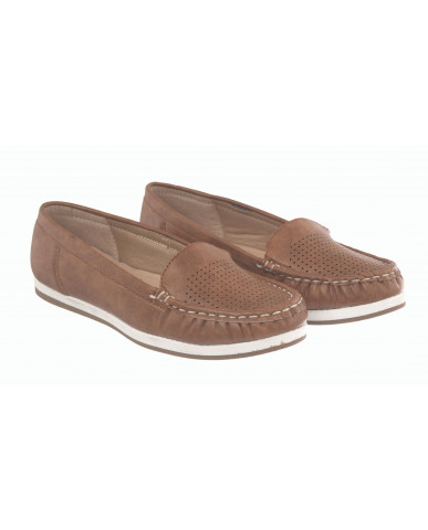 5295 : Balujas Tan Ladies Loafers