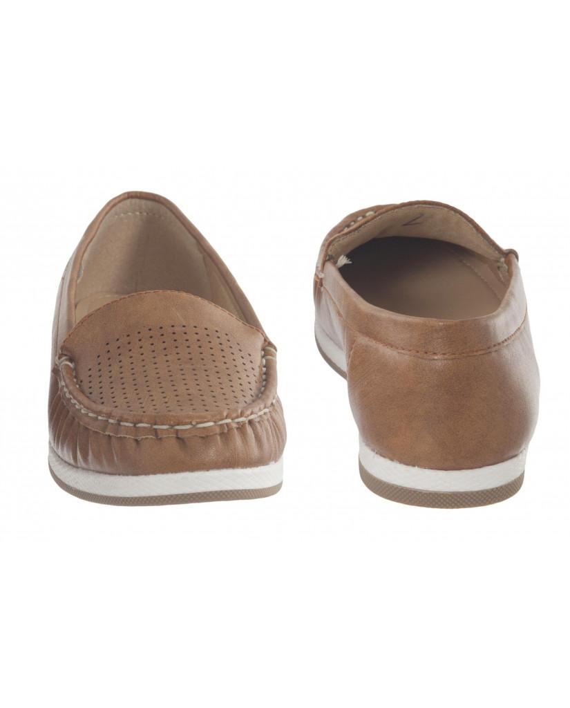 5295 : Balujas Tan Ladies Loafers