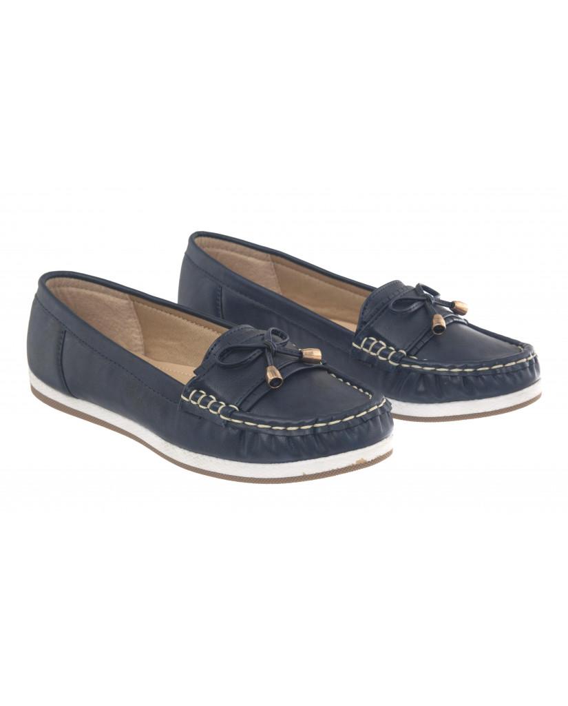 5298 : Balujas Blue Ladies Loafers