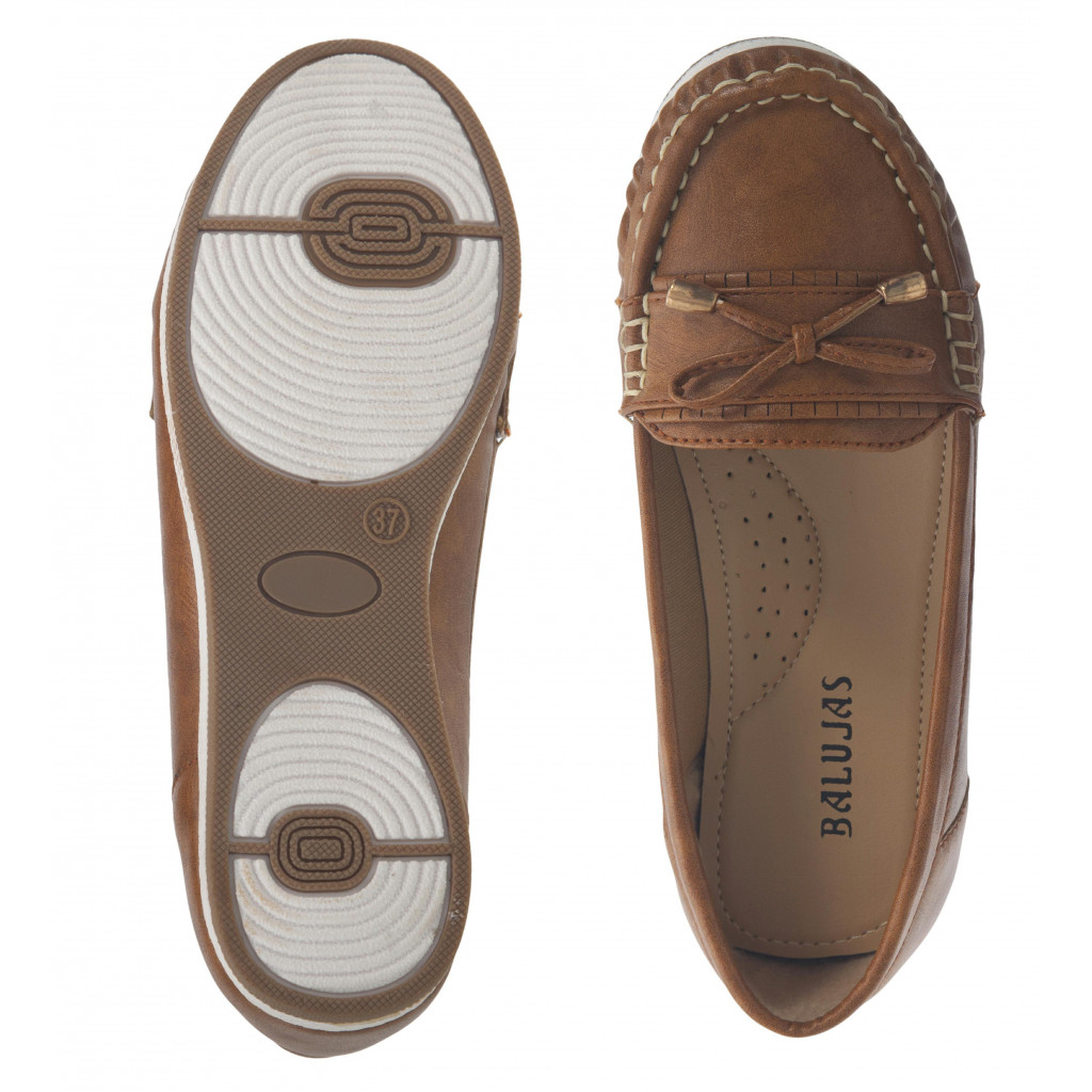 5298 : Balujas Tan Ladies Loafers