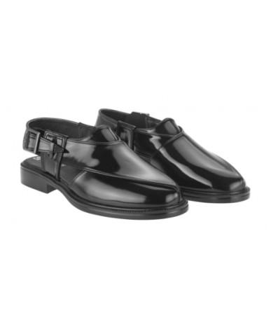 1053 : Balujas Black Synthetic Peshawari