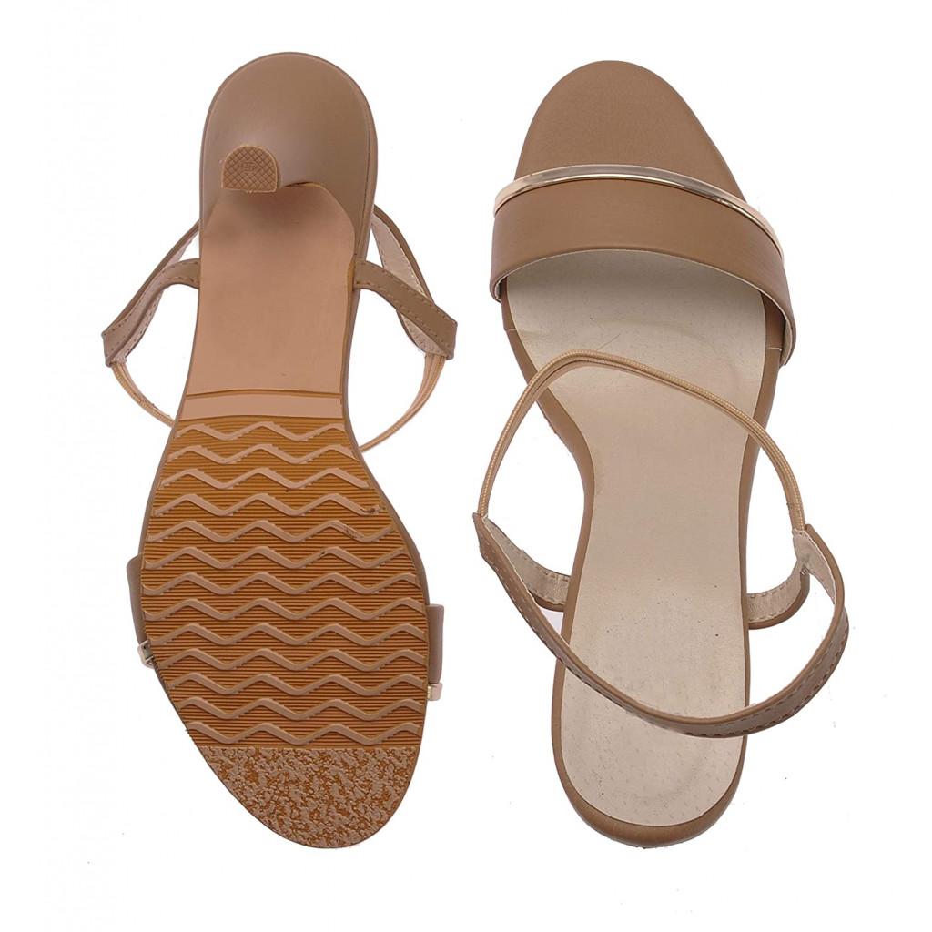 1327 : Balujas' Chelsea Beige Heel Sandals