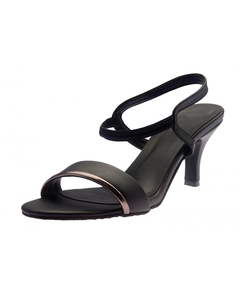 1327 : Balujas' Chelsea Black Heel Sandals