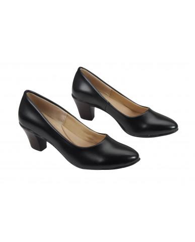 FN-3D: Balujas Black  Block Heel Ladies Bellies