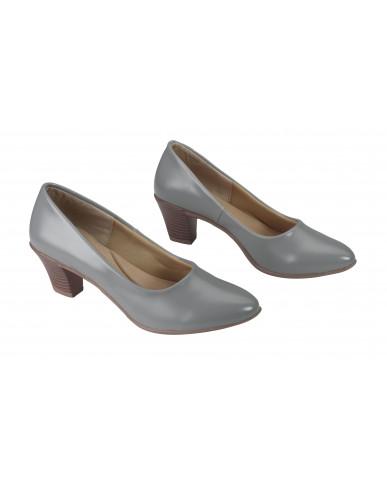 FN-3D: Balujas Grey Block Heel Ladies Bellies