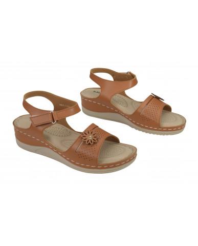 A-4: Balujas Tan Flat Sandals