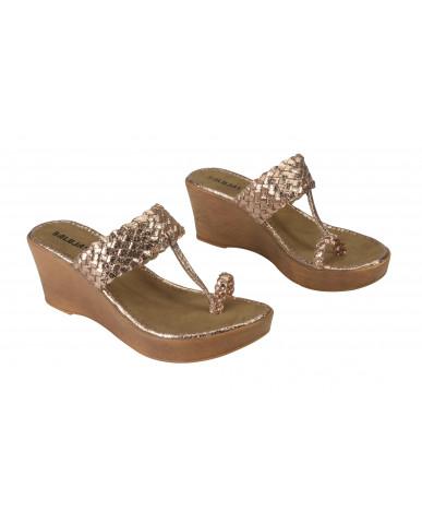2065: Balujas Sultan Wedge Heel Ladies Chappal
