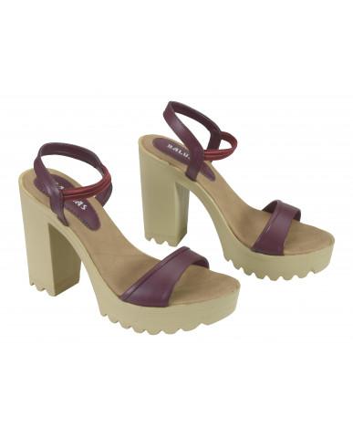 G-224 : Balujas Cherry Block Heel Ladies Sandals
