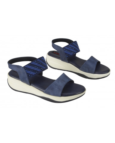 S12-162 : Balujas Blue Flat Sandals