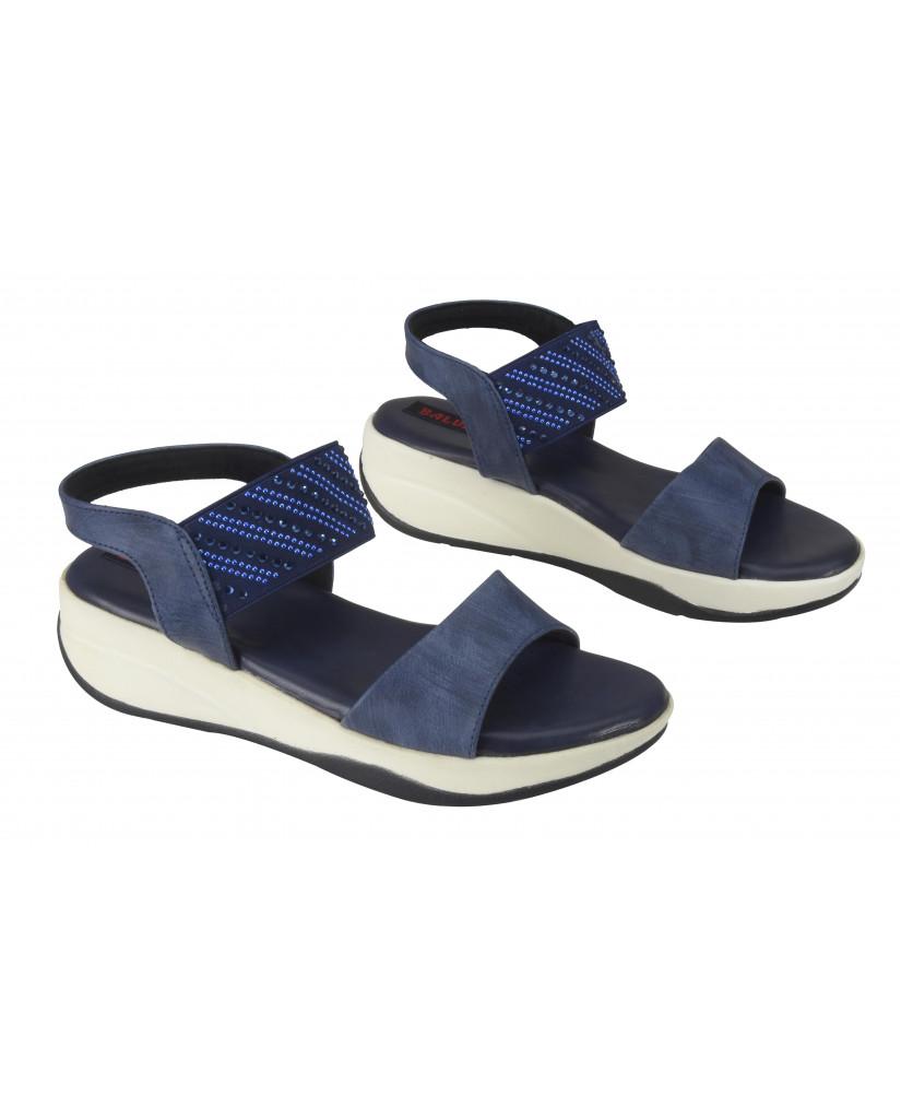 S12-162 : Balujas Blue Flat Sandals