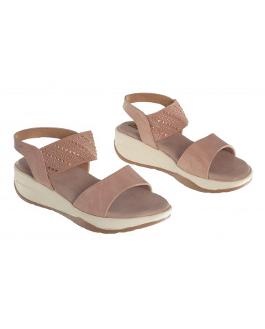 S12-162 : Balujas Peach Flat Sandals