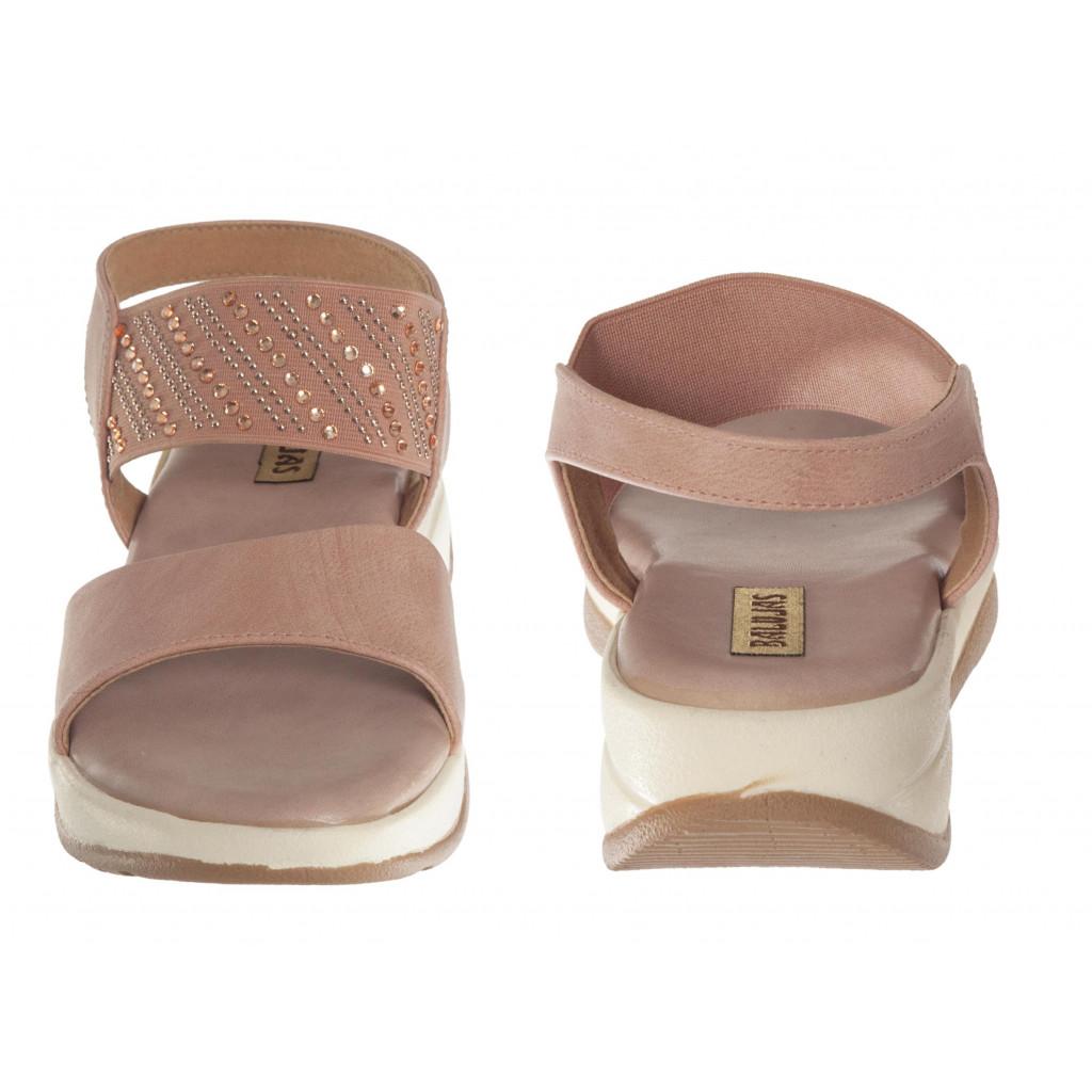 S12-162 : Balujas Peach Flat Sandals