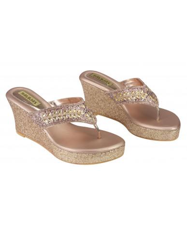 S22-70: Balujas Sultan Wedge Heel Chappal