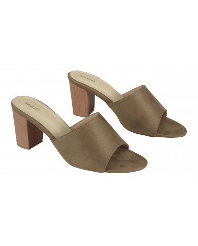 806: Balujas Khaki Block Heel Ladies Slippers