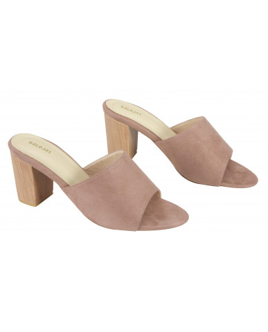 806: Balujas Pink Block Heel Ladies Slippers