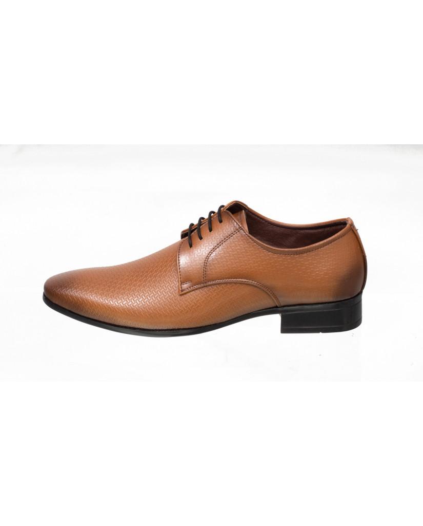 3001 : Balujas Tan Men Formal Shoes