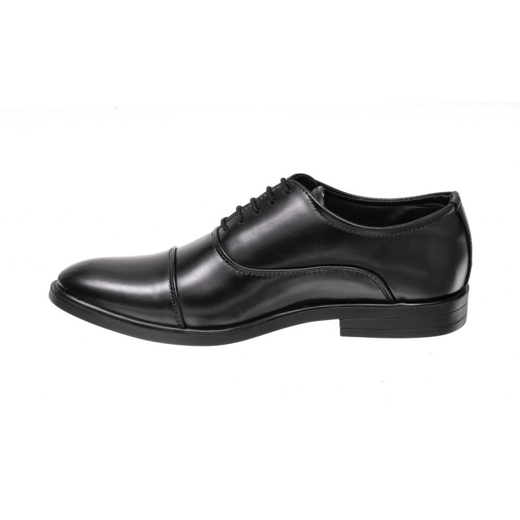 3324 : Balujas Black Men Formal Shoes