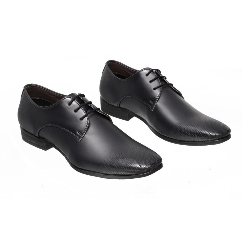 3901 : Balujas Black Men Formal Shoes