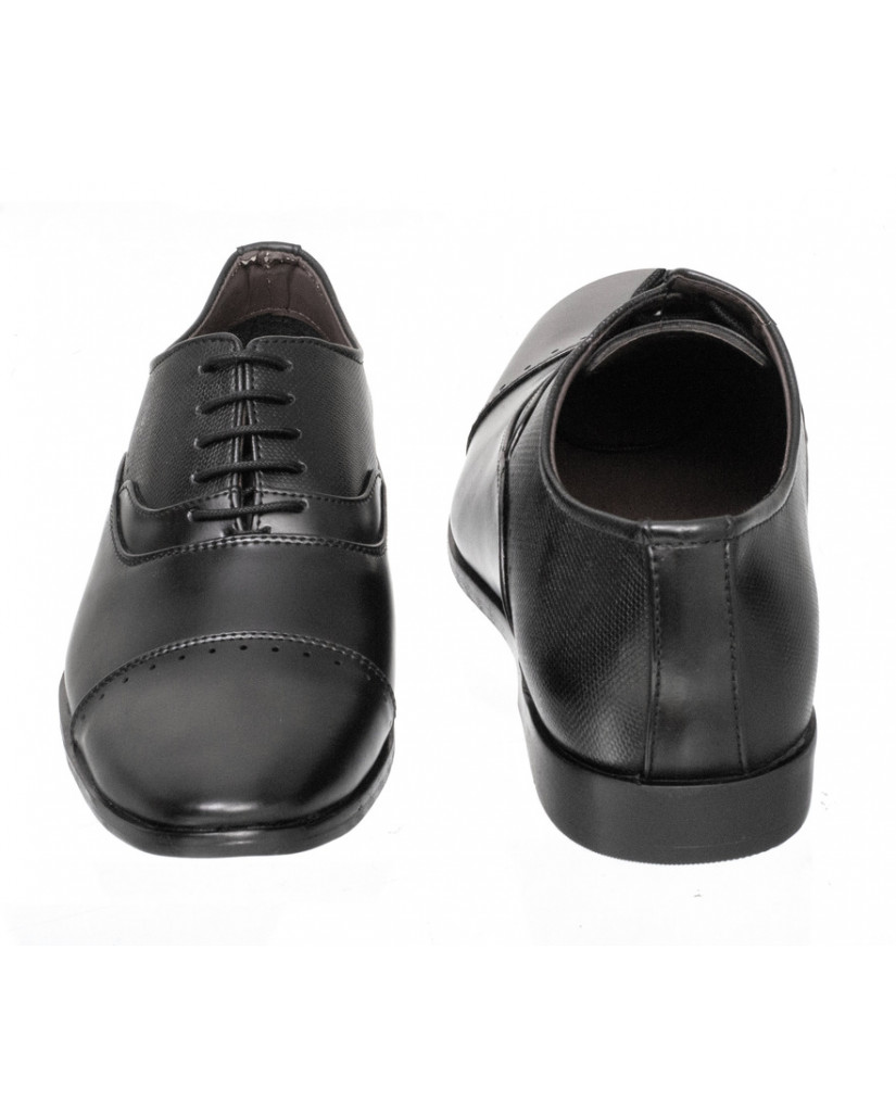 4124 : Balujas Black Men Formal Shoes