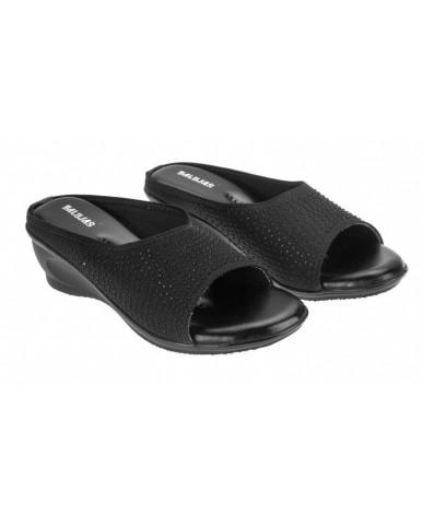AB-715 : Balujas' Black Wedge Heel Bellies