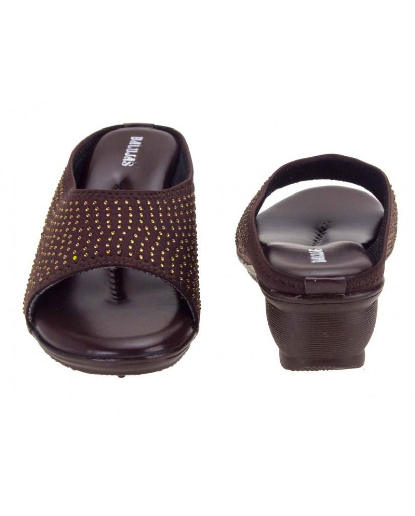 AB-715 : Balujas' Brown Wedge Heel Bellies