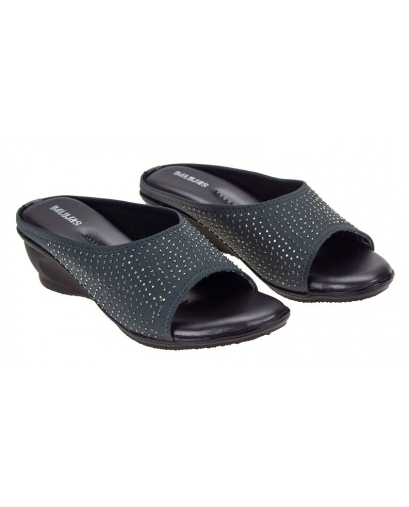 AB-715 : Balujas' Grey Wedge Heel Bellies