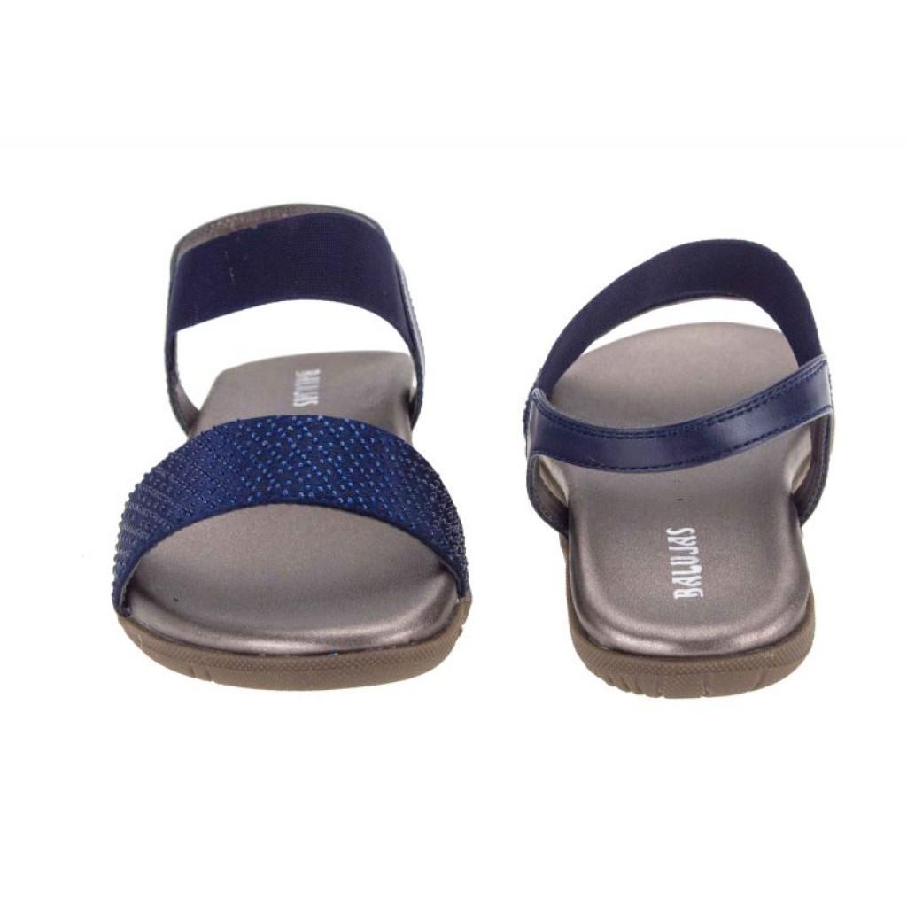 B-3024: Balujas Blue Flat Ladies Sandals