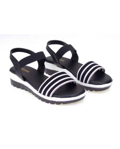 MH-704 : Balujas Black Ladies Sandals