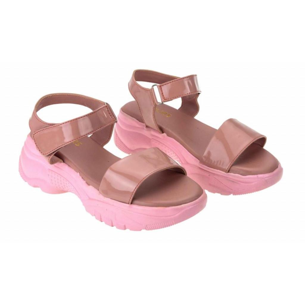 MH-744 : Balujas Peach Ladies Sandals