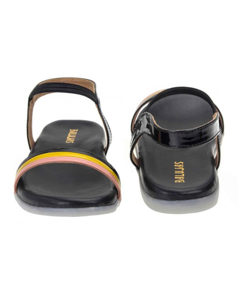 SM-2869: Balujas Black Ladies Sandals