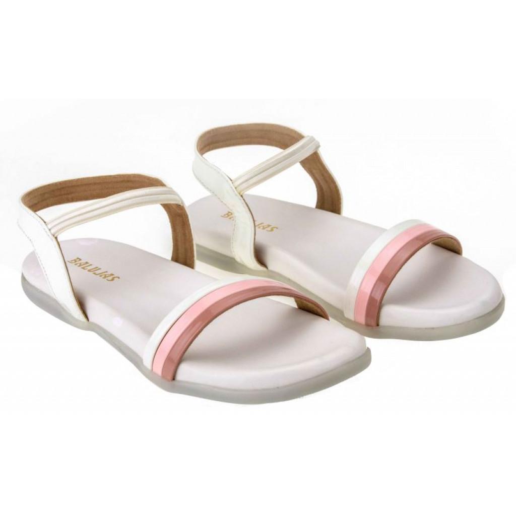 SM-2869: Balujas White Ladies Sandals