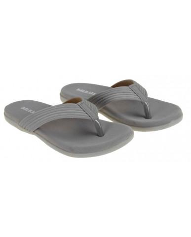 SM-2912 : Balujas Grey Flat Ladies Chappal