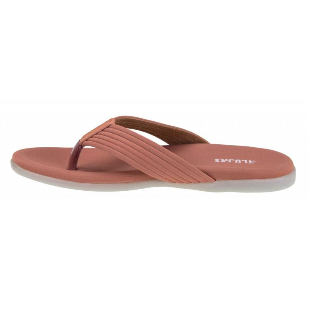SM-2912 : Balujas Peach Flat Ladies Chappal