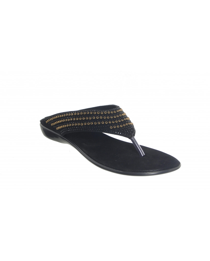 1006 : Balujas Black Ladies Chappal