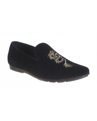 9900 : Balujas' Arya Black Men Shoes