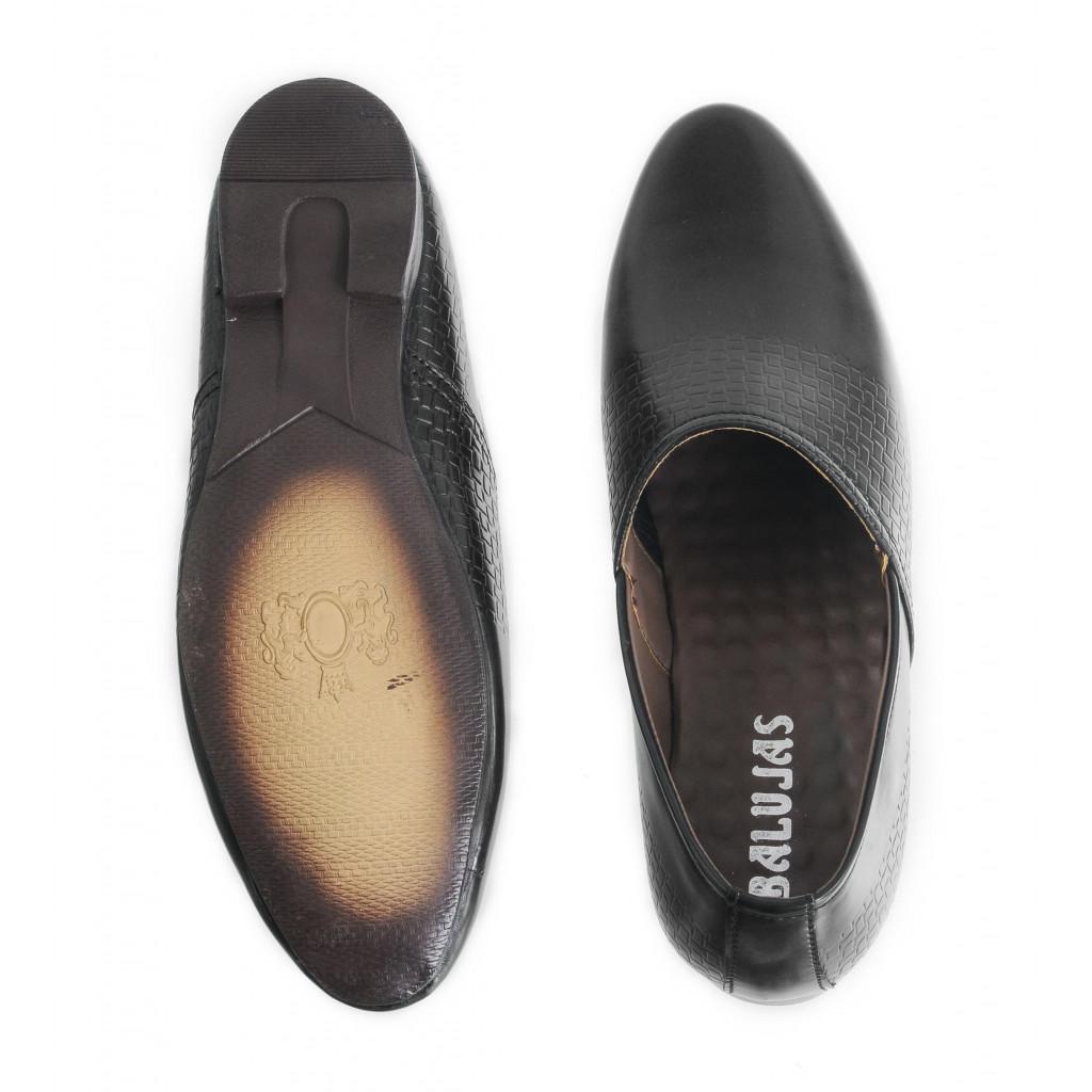 B-10 : Balujas'Arya International Black Men Shoes