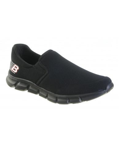 719 : Balujas' Forward Footwear Black Men Walking Shoes