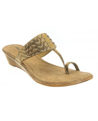 2006 : Balujas'Taraah' Gold Wedge Heel Chappal