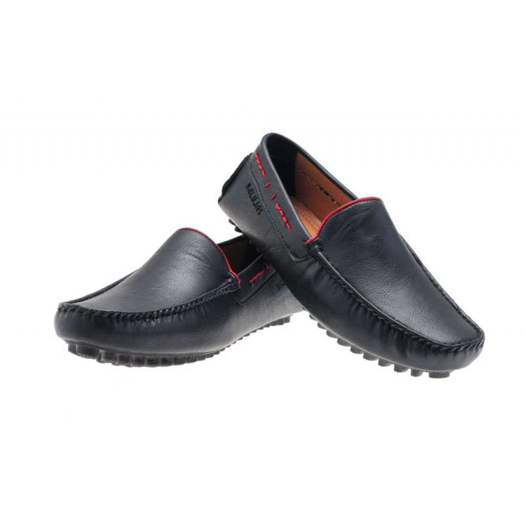 AE4709 : Balujas Black Men Loafers