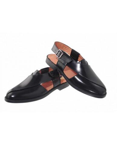 499: Balujas Black Leather Peshawari