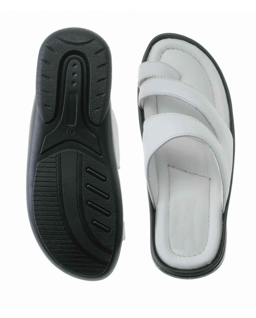 17002: Balujas White Men Formal Slippers