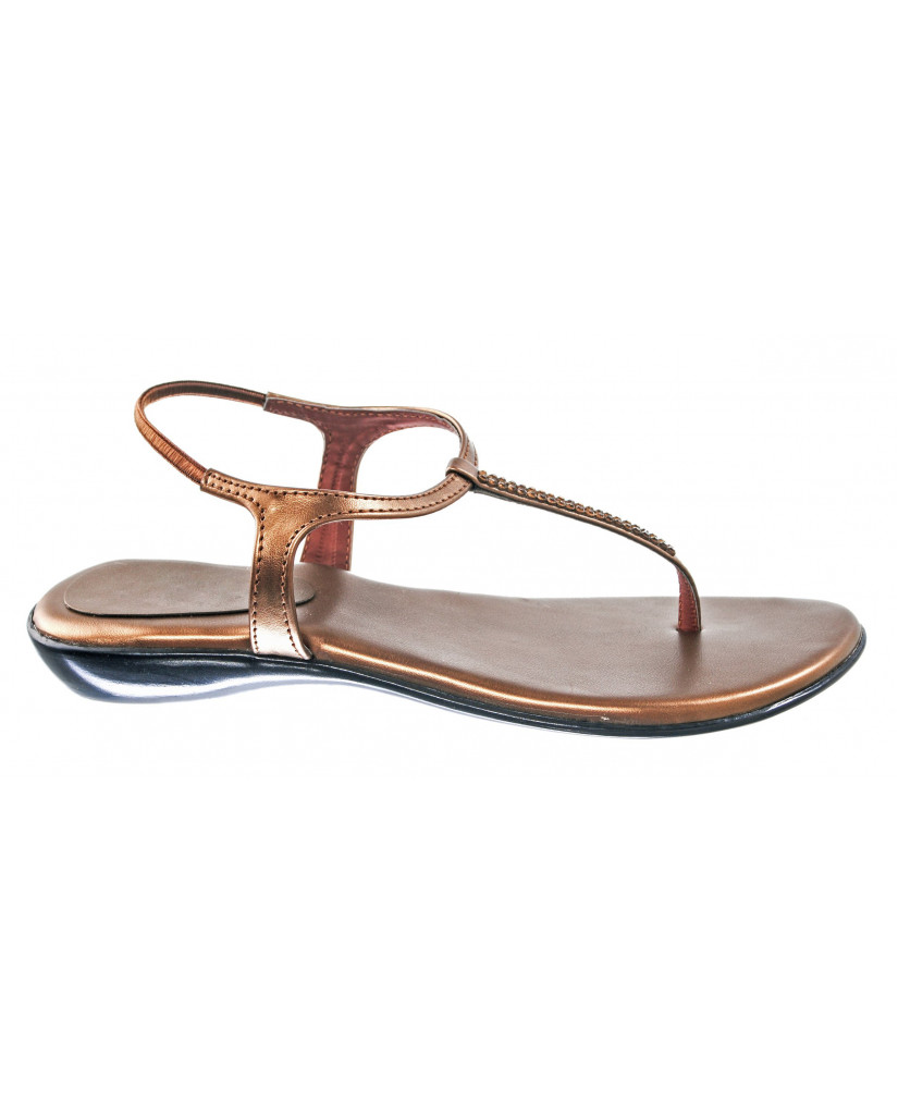 102 : Balujas' Fiona Flat Copper Ladies Sandal