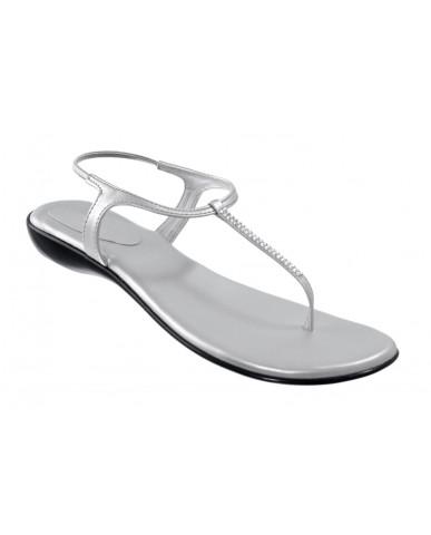 102 : Balujas' Fiona Flat Silver Ladies Sandal